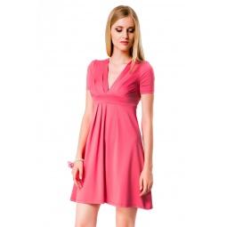 фото Платье Mondigo 6087. Цвет: коралловый. Размер одежды: 44