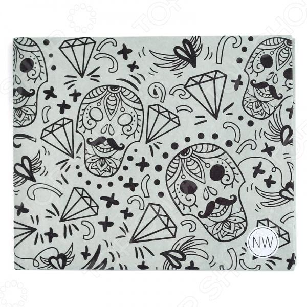 Бумажник New wallet SkullsКошельки. Портмоне<br>Бумажник New wallet Skulls это стильный бумажник, который выполнен из удивительного полимерного микроволокна Tyvek. Чем же так удивителен этот материал Дело в том, что он похож на бумагу, но при этом долговечен и стойко переносит ежедневное использование. Вы можете закинуть бумажник в карман с ключами или в сумку, а когда в следующий раз достанете, то не заметите на поверхности никаких следов! Даже если вы уроните его в воду, то можете не переживать, ведь материал водонепроницаем. Можно отметить следующие характеристики этого кошелька:  2 больших отделения для наличных денег и чеков;  2 расширяющихся отделения для дисконтных и кредитных карт;  2 вместительных кармана;  Вес всего 15 грамм! Если вы часто сталкиваетесь с тем, что вам некуда положить очередную скидочную карту, то этот бумажник решит эту проблему, ведь в него вмещается более 16 карт. Приобретите этот аксессуар и вы забудете о переживаниях из-за маркого и непрочного материала, а за счёт того, что он расширяется, вы сможете поместить туда всё что вам необходимо иметь под рукой.<br>