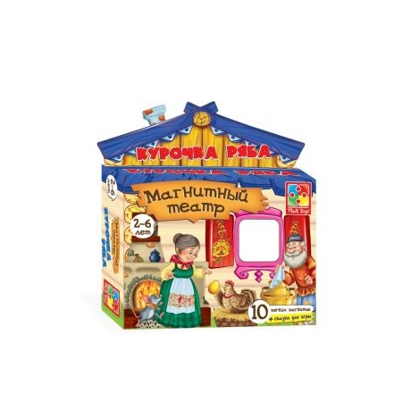 Купить Игра развивающая для малыша Vladi Toys «Магнитный театр. Курочка Ряба»