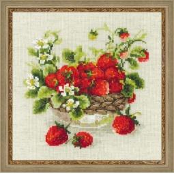 фото Набор для вышивания крестиком Сотвори Сама «Садовая клубника»