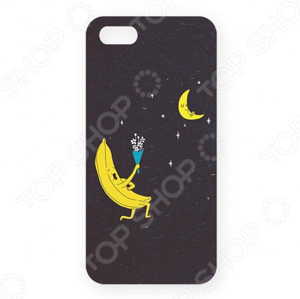 Чехол для iPhone 5 Mitya Veselkov «Влюбленный банан» чехол для iphone 6 mitya veselkov влюбленный робот