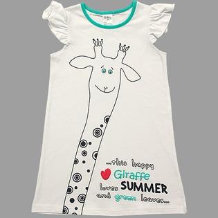 Купить Туника детская V-Baby «Счастливый жираф». Цвет: белый
