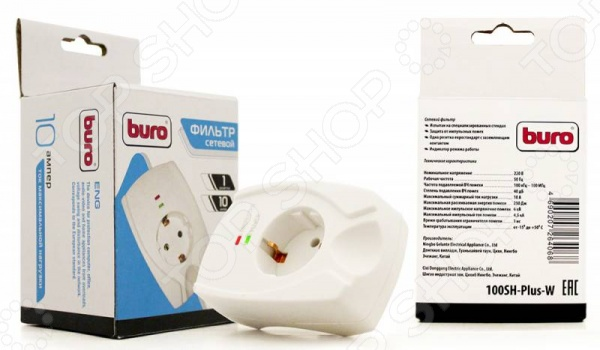 Фильтр сетевой BURO 100SH-Plus