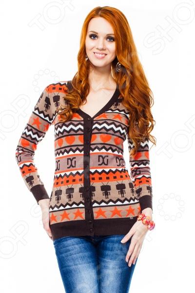 Кардиган Mondigo 9876. Цвет: коричневый