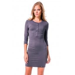 фото Платье Mondigo 8528. Цвет: темно-серый. Размер одежды: 46