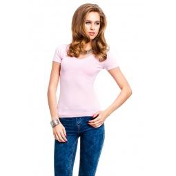 фото Футболка Mondigo 056. Цвет: бледно-розовый. Размер одежды: 44