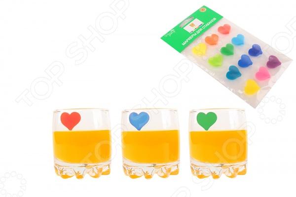 Маркеры для стаканов Elan Gallery «Сердечки» наборы кухонных принадлежностей elan gallery набор лопатка кисточка