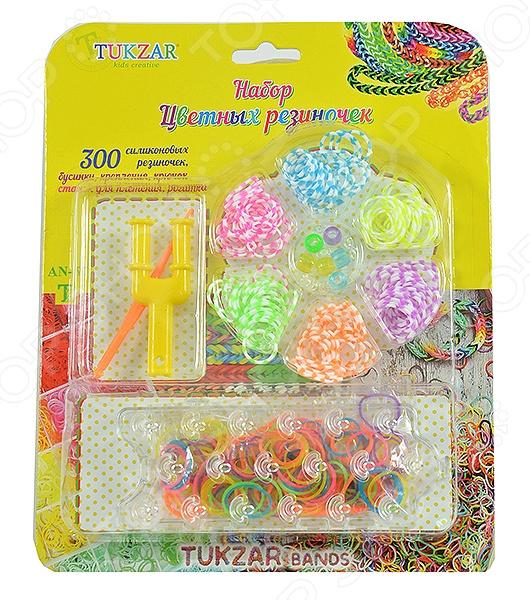 Набор резиночек для плетения Tukzar AN-67 наборы для плетения набор для плетения в органайзере весёлые пятнашки 292 rb
