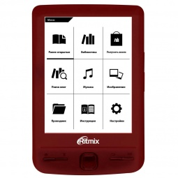 фото Книга электронная Ritmix RBK-200. Цвет: красный