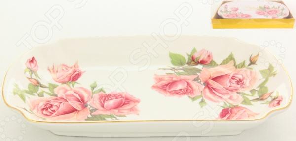 фото Блюдо для слоеных салатов Elan Gallery «Розовая фантазия», Салатницы