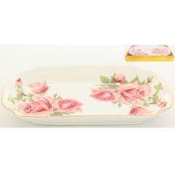 Купить Блюдо для слоеных салатов Elan Gallery «Розовая фантазия»