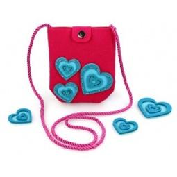 Купить Набор для изготовления сумочки из фетра Color Puppy «Сердечки»