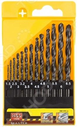 Набор сверл по металлу Stayer Master 2961-H13_z01 набор сверл по металлу stayer master 2961 h8 z01