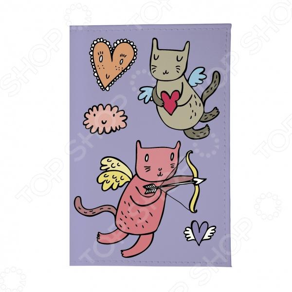 Обложка для паспорта Mitya Veselkov «Коты-амуры» обложка для паспорта коты амуры на сиреневом ozam359