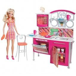 фото Набор: кукла и полный комплект мебели Mattel Накрываем на стол