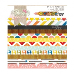 фото Набор бумаги Glitz Design Color me happy. Количество листов: 36. Размер: 15х15 см