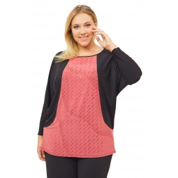 Блуза Pretty Woman «Вилла Россе». Цвет: розовый, черный