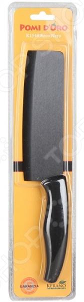 Нож керамический POMIDORO K1548Ножи<br>Нож керамический POMIDORO K1548 надежный и очень острый инструмент из керамики фирмы Kerano. Вы можете быть уверены, что материал лезвия не содержит вредных примесей, которые используются для аналогичных ножей из легированной стали. Главное преимущество керамики также в том, что она не вступает в химическую реакцию с продуктами в процессе резки. В результате вкус пищи остается неизменным, а лезвие не впитывает посторонние запахи. Керамические ножи прослужат очень долго без необходимости дополнительной заточки, если соблюдать несколько простых правил. Первым делом стоит подобрать правильную рабочую поверхность. К примеру, традиционная разделочная доска из дерева прекрасно подойдет для этих целей. Однако лучшим вариантом станет досточка из специального вспененного антибактериального пластика. Не стоит резать замороженные и твердые продукты. Назначение ножа разделочный.<br>