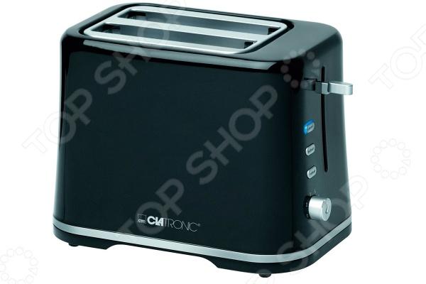 Тостер Clatronic TA 3554Тостеры<br>Тостер Clatronic TA 3554 отличное дополнение к набору мелкой бытовой техники для кухни. С его приобретением у вас появится возможность каждый день радовать домочадцев необычайно вкусными и хрустящими тостами. Прибор практичен и удобен в использовании, снабжен термоизолированным корпусом, тремя лампами с голубой подсветкой, съемным поддоном для крошек и регулируемым термостатом. Функция автоматического центрирования ломтиков позволяет более равномерно прожарить тосты. Предусмотрено как автоматическое, так и ручное отключение прибора. Имеется место для сматывания сетевого шнура.<br>