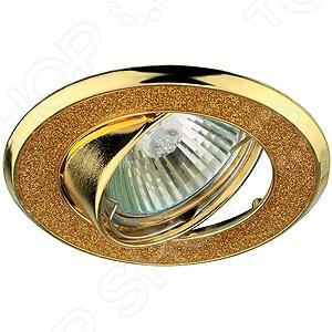 Светильник встраиваемый поворотный Эра DK18 GD/SH YLСпоты встраиваемые<br>Светильник встраиваемый поворотный Эра DK18 GD SH YL это красивый и мощный светильник, который способен ярко освещать целую комнату. Встраиваемый светильник может служить единственным источником света или дополняться декоративными светильниками. Светильник подходит для низких потолков, поскольку занимает достаточно мало места. Классический светильник, который позволит вам подсветить комнату, или напротив создать рассеянное освещение. Потолочный светильник может выступать как локальным источником света, так и основным, можно осветить рабочую зону или подчеркнуть интерьер. Если вы хотите создать в квартире определенный интерьер, то, в большинстве случаев, без потолочных светильников вам не обойтись. Следует заметить, что потолочные светильники прекрасно подходят для рабочих помещений, кабинетов и офисов. Можно использовать как замену люстр в маленьких помещениях, например, в помещениях где низкие потолки и вешать люстру просто невозможно. Кроме того, потолочные светильники помогут создать неповторимую атмосферу в коридорах. Свет, который излучается очень мягкий, при этом достаточно хорошо освещает помещение.<br>