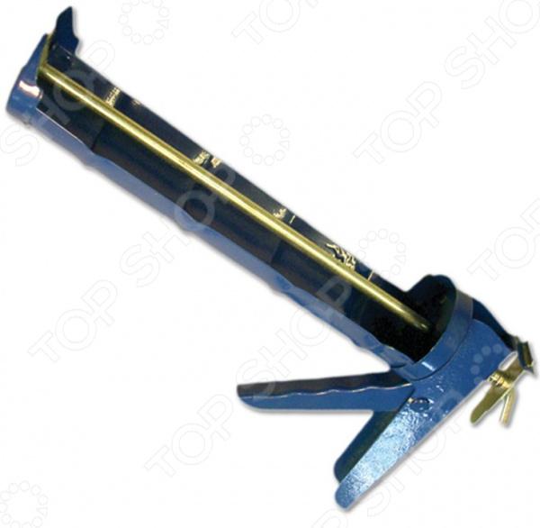 Пистолет для герметика SANTOOL 010503Пистолеты для герметика и пены<br>Пистолет для герметика SANTOOL 010503 ручной инструмент для выдавливания герметика, благодаря которому можно будет с высокой точностью заклеить нужный участок. Имеет прочную конструкцию, оснащен полуоткрытым корпусом и зубчатым штоком, уменьшает нагрузку на руку. Усиленный корпус из металла, окрашен. Такой пистолет облегчает проведение объемной работы. Эргономичная рукоятка обеспечит комфортную работу с пистолетом.<br>