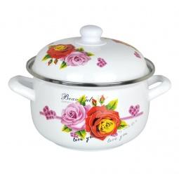 фото Кастрюля с крышкой Mayer&Boch Beautyful Romantic Rose. Объем: 1,9 л. Диаметр: 18 см