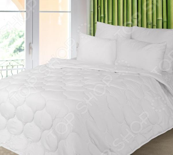 Одеяло Green Line «Бамбук»Одеяла<br>Одеяло Green Line Бамбук согреет вас холодными зимними ночами, подарит комфортный сон и приятное пробуждение. Изделие прослужит вам долгие годы. Серия Green Line представляет собой сочетание природных и синтетических компонентов. Пористая структура бамбукового волокна обеспечивает отличные условия для циркуляции воздуха и впитывания влаги. При изготовлении одеяла применяется ткань Ультратекс, которая быстро высыхает после стирки, не деформируется и практически не мнутся.<br>