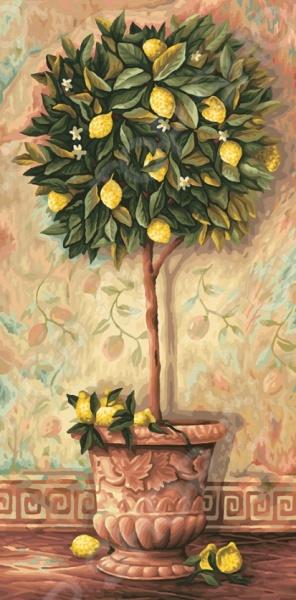 Набор для рисования по номерам Schipper «Лимонное дерево»Наборы для рисования по номерам<br>Набор для рисования по номерам Schipper Лимонное дерево это отличная раскраска, которая точно понравится любителям заниматься изобразительным искусством. Живопись по числам становится очень популярной, ведь картин огромное множество и вы можете подобрать именно то, что хочется вам. В процессе рисования человек открывает душу, чувствует связь с миром и со своей глубинной сущностью. Процесс рисования представляет собой процесс создания фантастического мира, в котором все будет идеальным. Во время раскрашивания ребенок развивает мелкую моторику пальцев, фантазию и усидчивость. Но, такая картина может стать прекрасным подарком и для взрослого человека, ведь рисование так успокаивает после трудового дня. Размер картины: 40х80 см.<br>