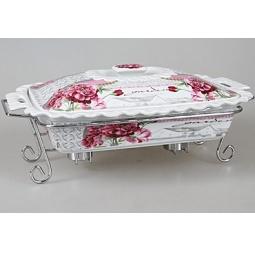 фото Форма для горячих блюд Rosenberg 9334. Рисунок: корейская роза