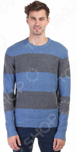 Джемпер Baon B636560. Цвет: голубойДжемперы. Кардиганы. Свитеры<br>Джемпер это не только универсальная, но и весьма демократичная одежда. В зависимости от кроя, цветовой гаммы и рисунка, он может стать частью как классического, так и casual-гардероба. Такая одежда не просто удобна и практична, она еще и легко сочетаема с другими предметами гардероба. Стильно и со вкусом Джемпер Baon B636560 прекрасно подходит для повседневного гардероба и хорошо сочетается с брюками, джинсами и чиносами. Благодаря прямому крою, его можно носить как самостоятельно, так и в комплекте с рубашкой. Джемпер выполнен в серо-голубых тонах, эффектно смотрится с вещами черного, серого и синего цвета.  Особенности модели:  прямой крой;  длинные рукава с манжетами;  круглый воротник;  рисунок в полоску ;  сезон осень-зима. В качестве материала используется акрил в сочетании с полиамидом и шерстью. Такая смесовая ткань отличается высокой прочностью и устойчивостью к истиранию, хорошо согревает и сохраняет тепло. Стоит отметить высокое качество используемых красителей. Они долго сохраняют свою яркость и не теряют цвет даже после многочисленных стирок.  Будь в тренде! Одежда Baon это синоним качества и стильного современного дизайна. Компания занимается производством как мужской, так и женской одежды. Коллекции соответствуют лучшим европейским трендам, а модели адаптированы под самые актуальные модные тенденции. Хотите выглядеть модно и стильно Тогда вперед за покупками в Baon!<br>