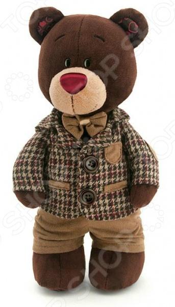 Мягкая игрушка Orange Choco «Медведь стоячий в клетчатом пиджаке»