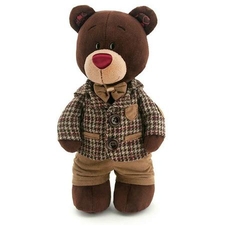 Купить Мягкая игрушка Orange Choco «Медведь стоячий в клетчатом пиджаке»