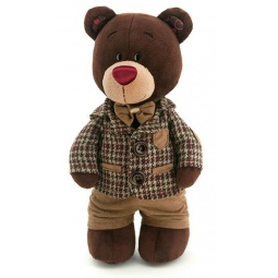 фото Мягкая игрушка Orange Choco «Медведь стоячий в клетчатом пиджаке»