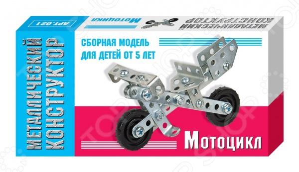 Конструктор металлический Десятое королевство «Мотоцикл» конструктор металлический десятое королевство с подвижными деталями вертолет 113эл 02028