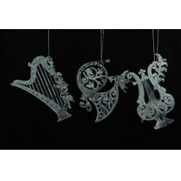 фото Елочное украшение Crystal Deco «Музыкальные инструменты». В ассортименте. Цвет: серебристый