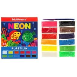 Купить Набор пластилина Erich Krause Neon: 12 цветов