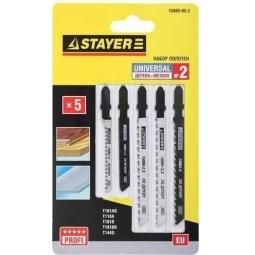 Купить Пилки для электролобзика Stayer Profi «Универсал №2» 15980-H5-2
