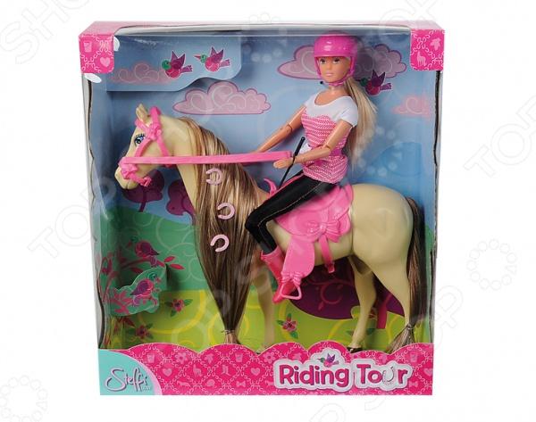 Кукла с аксессуарами Simba Штеффи верхом на лошади