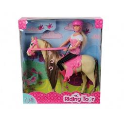 Купить Кукла с аксессуарами Simba Штеффи верхом на лошади