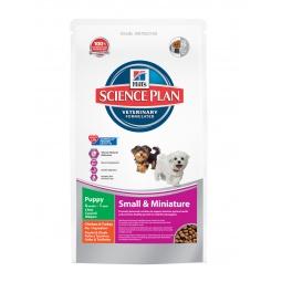 фото Корм сухой для щенков миниатюрных пород Hill's Science Plan Puppy с курицей и индейкой. Вес упаковки: 300 г