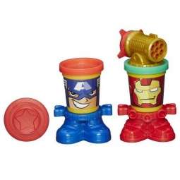 фото Набор пластилина Hasbro B0745 Play-Doh «Железный Человек и Капитан Америка»