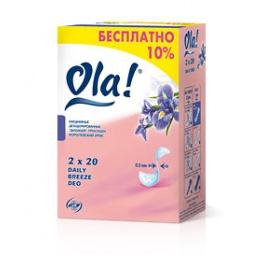 фото Ежедневные прокладки Ola Daily Breeze DEO. Вид: Королевский Ирис (40 шт.)