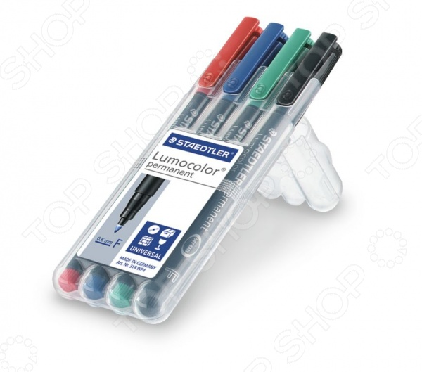 Набор перманентных маркеров Staedtler 318WP4