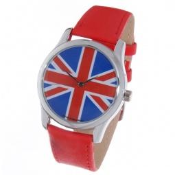 фото Часы наручные Mitya Veselkov «Британский флаг» Color. Цвет: красный
