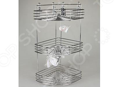 Полка для ванны угловая Rosenberg 7688Полки для ванной<br>Полка для ванны угловая Rosenberg 7688 это компактное и практичное решение для ванной комнаты, которое позволит держать все необходимые гели и шампуни под рукой. Металлический каркас с тремя уровнями угловых полок, устойчивый к истиранию и влаге, гарантирует надежность и длительный срок службы, а прочные крепления на присосках позволяют подвесить полку там, где вам будет удобно.<br>
