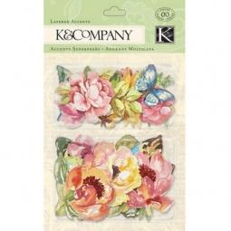 Купить Стикер-украшение K&Company «Розы и бабочки»