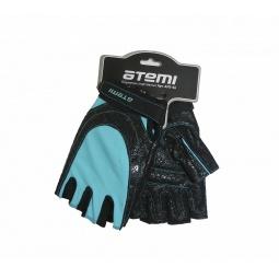 фото Перчатки для фитнеса Atemi AFG-06. Цвет: синий, черный. Размер: S