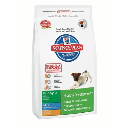 Купить Корм сухой для щенков мелких пород Hill's Science Plan Puppy Mini с курицей