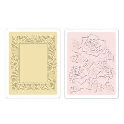 фото Форма для эмбоссирования Sizzix Textured Impressions Роза и рамка