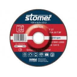 фото Диск шлифовальный Stomer по металлу. Модель: GD-125. Размер: 125х6 мм